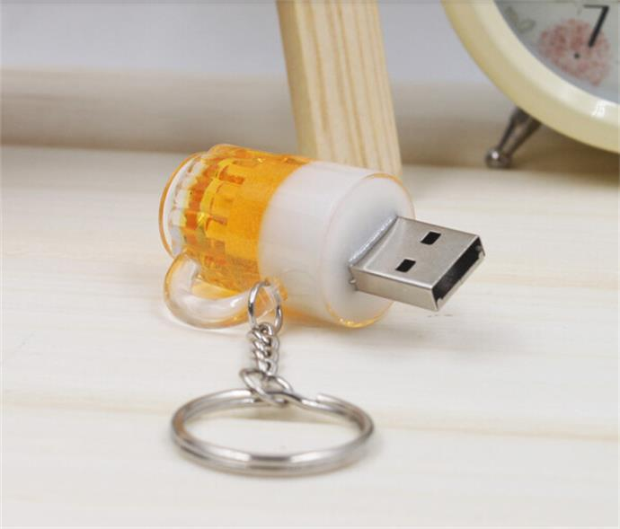 Real capacity Free shipping Beer Bottle U disk usb flash drive 8GB pen drives pendrive memory stick(China (Mainland))
