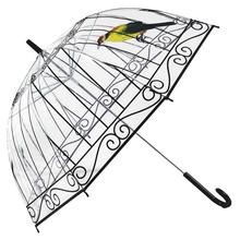 Buy Transparent Umbrella Rain Women Creative Bird Cage Parasol Long-handle Umbrella 8 Ribs Sunny Rainy Umbrella Paraguas for $14.00 in AliExpress store