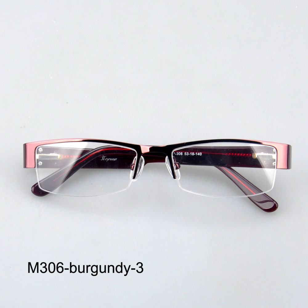 Eyeglass Frames Wide Temples : M306 Free shipping wide temple eyeglasses metal optical ...