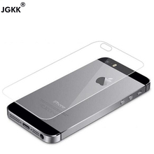 Buy JGKK 0.26mm 9H Back Tempered Glass iPhone 5S 5 5G Tempered Glass Anti Shatter Film Premium Tempered Glass free for $1.09 in AliExpress store