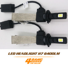 Buy Pair LED COB 6400LM/Set 60W/Set H7 Bulb Car DRL lamp Cooling Belt Design Fog Headlight Light White Conversion Kit for $35.99 in AliExpress store