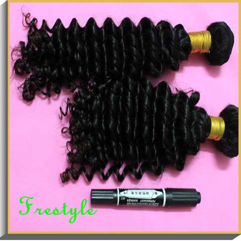 ,Grade7A virgin remy malaysian hair deep kinky curly weave,mix size 4bundles lot,12 inch14 inch16 inch18 inch20 inch30inch - Frestyle human (Factory price store)