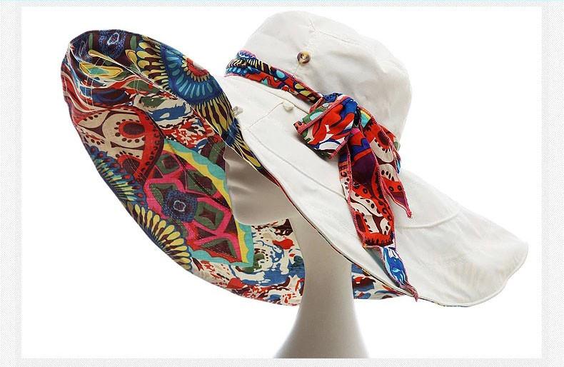 2016 модный дизайн складная наполнянный до краев шляпа летние шляпы для женщин открытый уф-защиты Z-2657