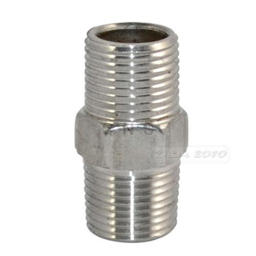 """3/8"""" Male x 3/8"""" Male Hex Nipple Stainless Steel 304 Threaded Pipe Fitting NPT 5pcs(China (Mainland))"""