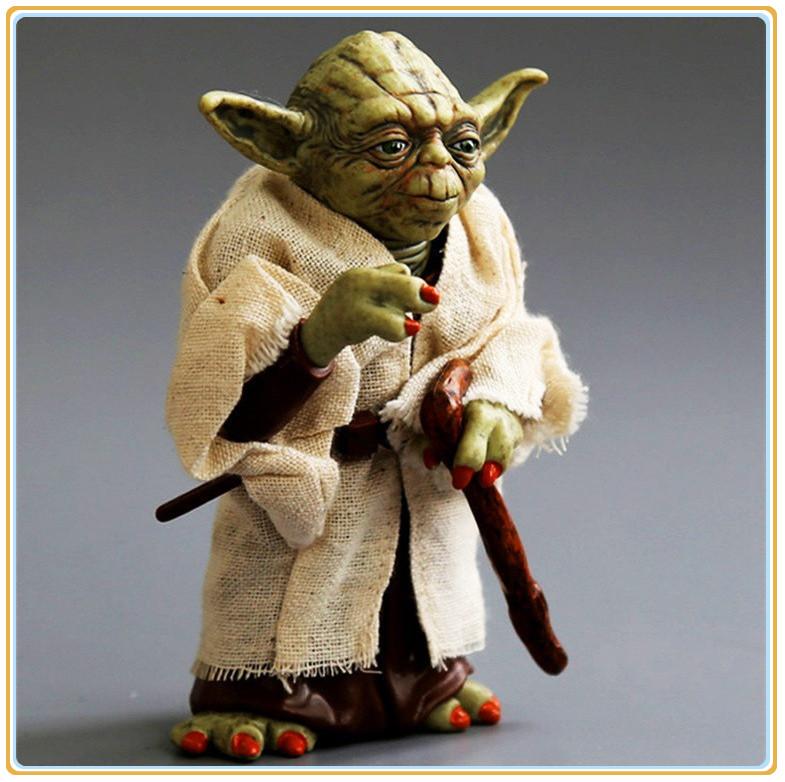 12CM Brand New Movie Figure Toys Star Wars Jedi Knight Master Yoda PVC Cool Action Figure Model Toy(China (Mainland))