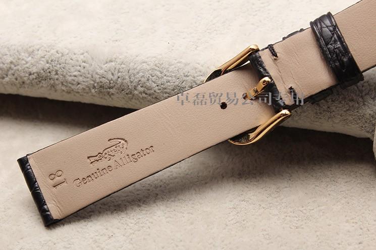 13 мм 18 мм 20 мм 22 мм тонкий черный и коричневый кожи аллигатора наручных часов легкий туман доступны