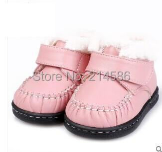 Genuine Leather Baby shoes Infant first walkers baby girl baby boy soft sole snowshoes waterproof anti-slip 0 -1- 2 years old(China (Mainland))