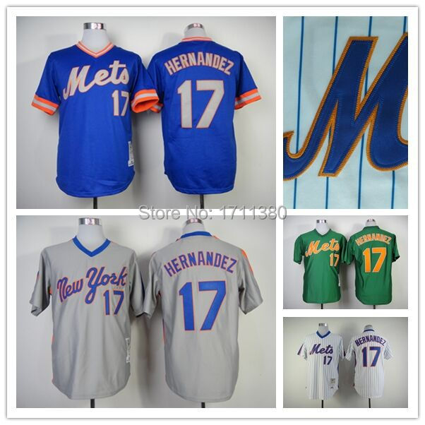 York Mets throwback jersey mens 17 Keith Hernandez Retro Stitched cheap authentic sport baseball jerseys custom M-3XL - Discount Jersey Store store
