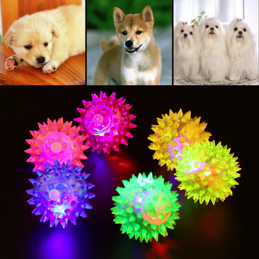 1pcs Dog Puppy Cat Pet Hedgehog Ball Rubber Bell Sound Ball Fun Playing Toy Hot Worldwide(China (Mainland))