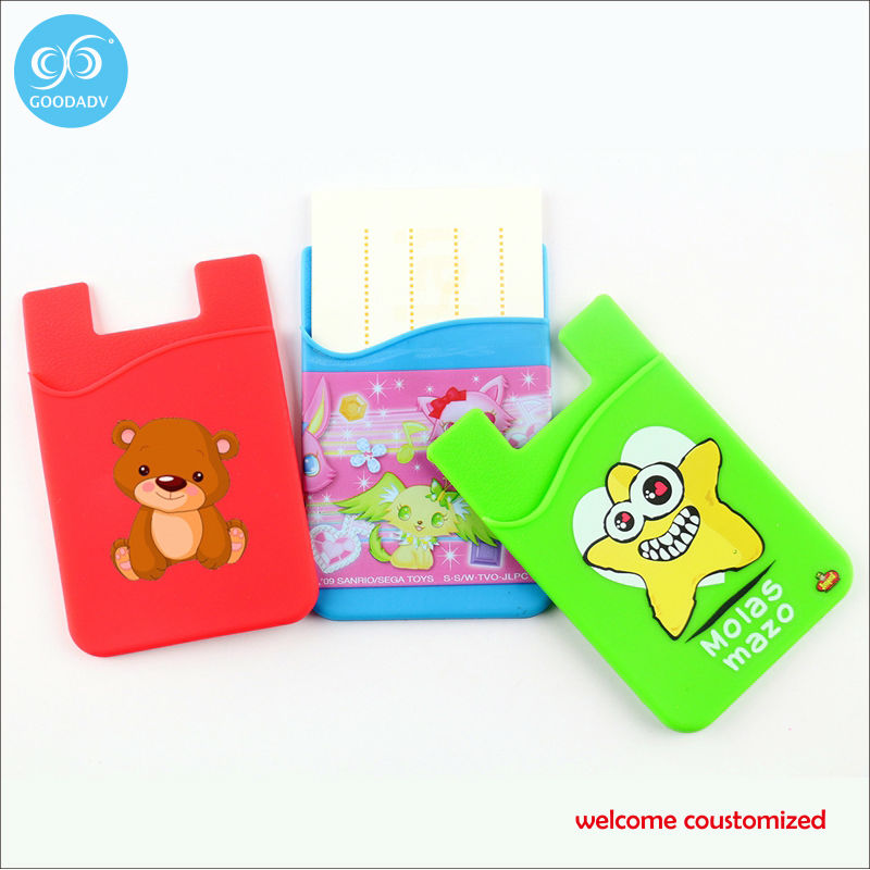OEM order acceptable wholesale/retail universal mobile back pouch 20 pcs/lot free shipping colorful adhesive credit card holder(China (Mainland))