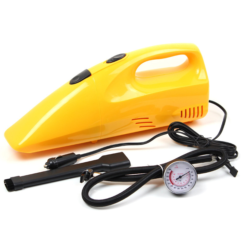 Free Shipping High Quality 2 in 1 Wet And Dry Hand Held Electric Vacuum Cleaner Air Pump Car Charger Portable Dust Collector(China (Mainland))
