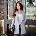 dabuwawa coat female autumn winter big sizes buttons slim fashion casual solid color gray blazer women