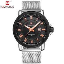 Fashion Luxury Brand Mesh Steel Quartz Watch Men Watches Date 30M Waterproof Business Wrist Watch Relogio Masculino