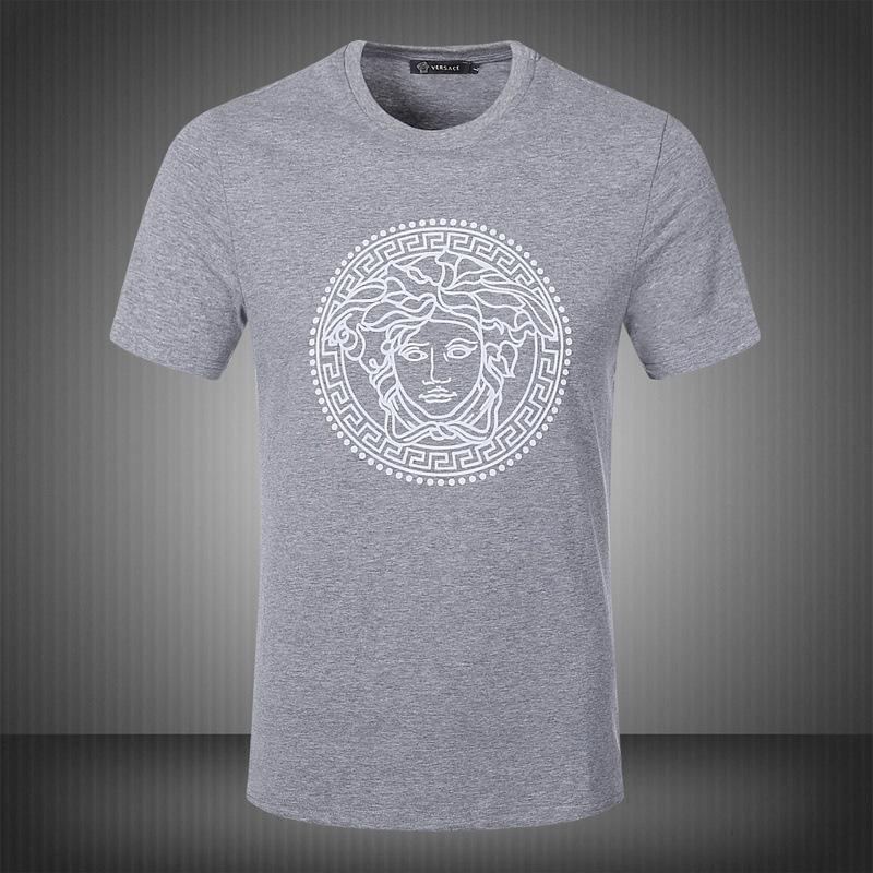 new arrival men fashion 2015 summer style high quality men's tshirt cotton printed T shirt men brand tee black white gray M-XXL(China (Mainland))