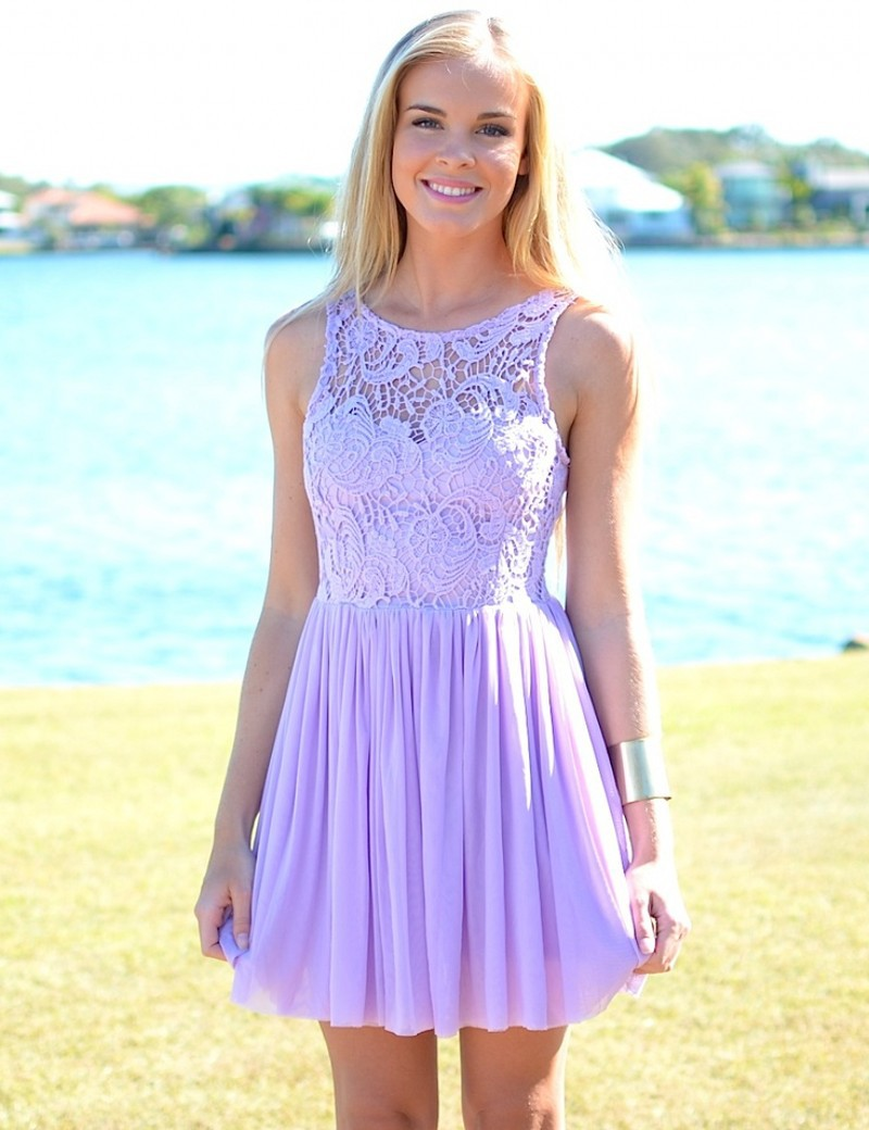 2015 hot sale summer beach wedding bateau sleeveless for Purple lace wedding dress