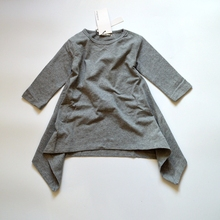 KIKIKIDS Autumn Newest Girl Dress Black And Gray Irregular Hem dress Long Sleeves Solid Dress For Kids(China (Mainland))