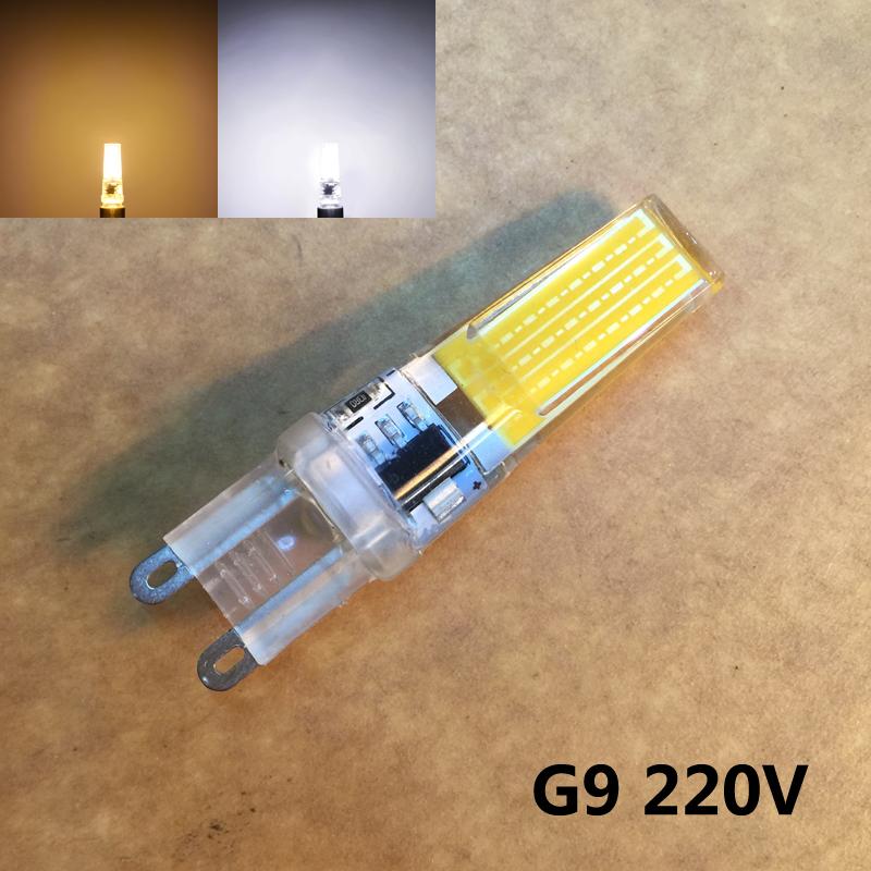 2016 Cree Hot Sale LED G9 Dimmable Lamp Bulb 220V 9W COB SMD LED Lighting Lights replace Halogen Spotlight Chandelier 10pcs/lot(China (Mainland))