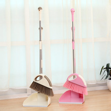 Stainless steel tube fashion besmirchers bucket broom dustpan sets combination soft-bristle broom storage vacuum cleaner garbage(China (Mainland))