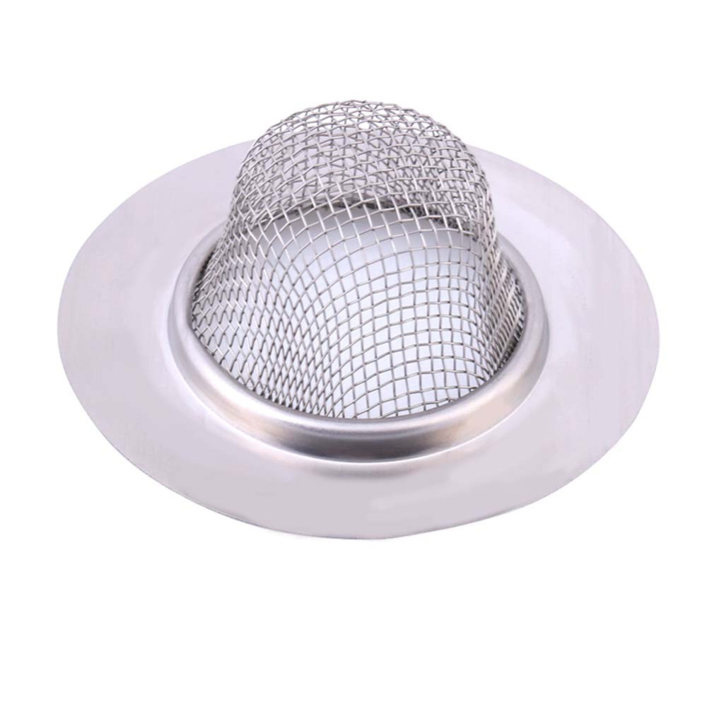Stainless Steel Sewer Filter Bathroom Basin Bathtub Hair Drains Mesh Outlet Kitchen Sink Filters Anti Clogging Floor Drain Net(China (Mainland))