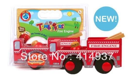 Excellent Quality Tumblekins wooden toys kid's toy rool wood educational toys wooden school bus