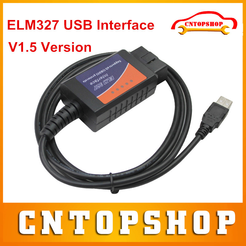 Top Rated ELM327 USB OBDII Diagnostic Interface Latest Version V1.5 ELM 327 USB Diagnostic Tool Support OBD2 Compliant Cars(China (Mainland))