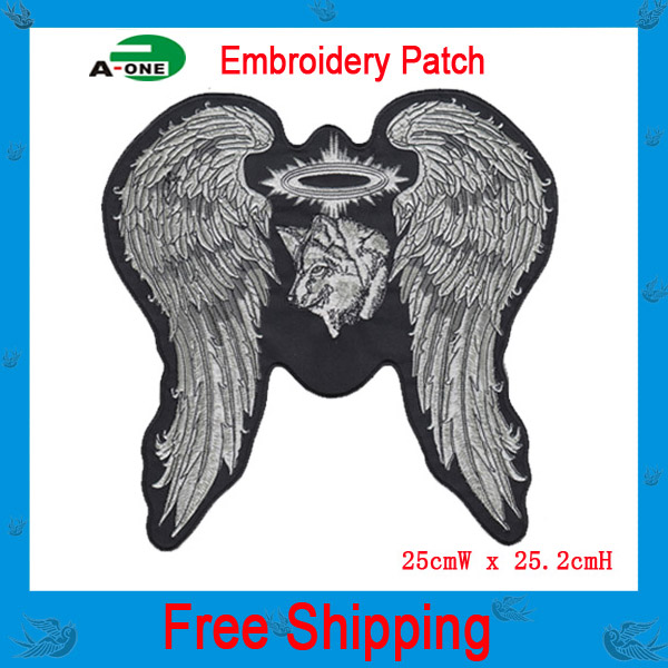 Embroidered Patches Motorcycles Custom Made Iron On Patches Freedom Riders Harley Exquisite DIY Large Size(China (Mainland))
