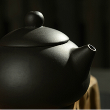 Purple Grit Yixing Teapot Traditional Ceramic Chinese Tea set Black Color