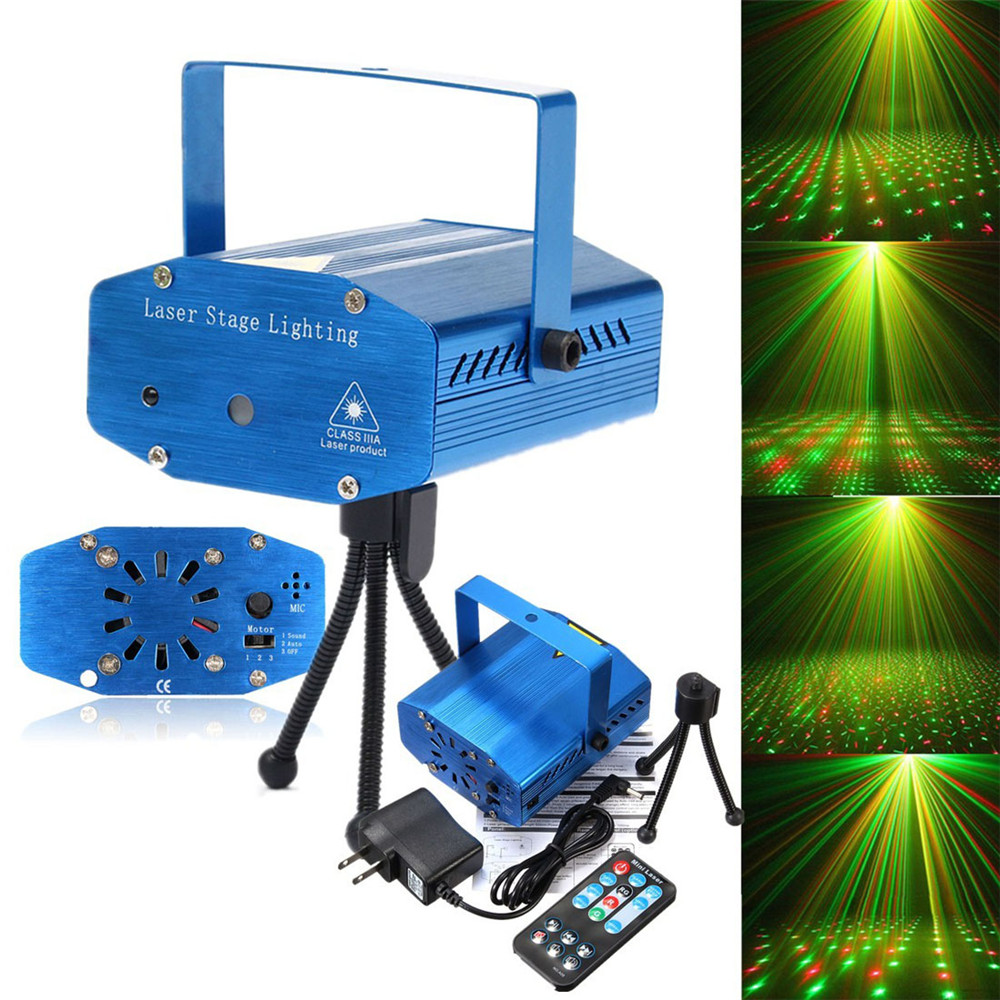 Sound Activation Stage Laser Star Starry Effects Stage Laser Light Projector - Green & Red Lights
