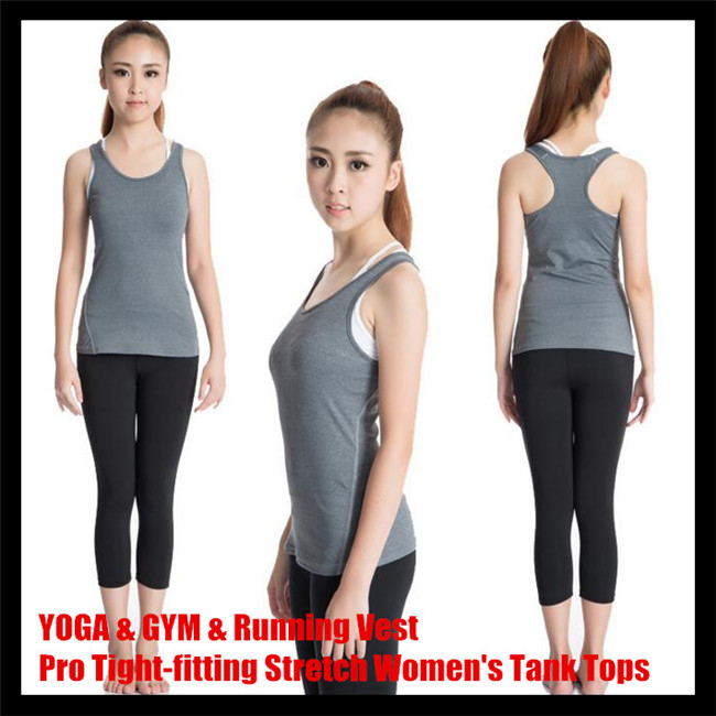 200pcs! Pro Tight-fitting Stretch Women Tank Tops,Sport Undershirt GYM&amp;Combat Running Training Body-building Base Layer Vest<br><br>Aliexpress