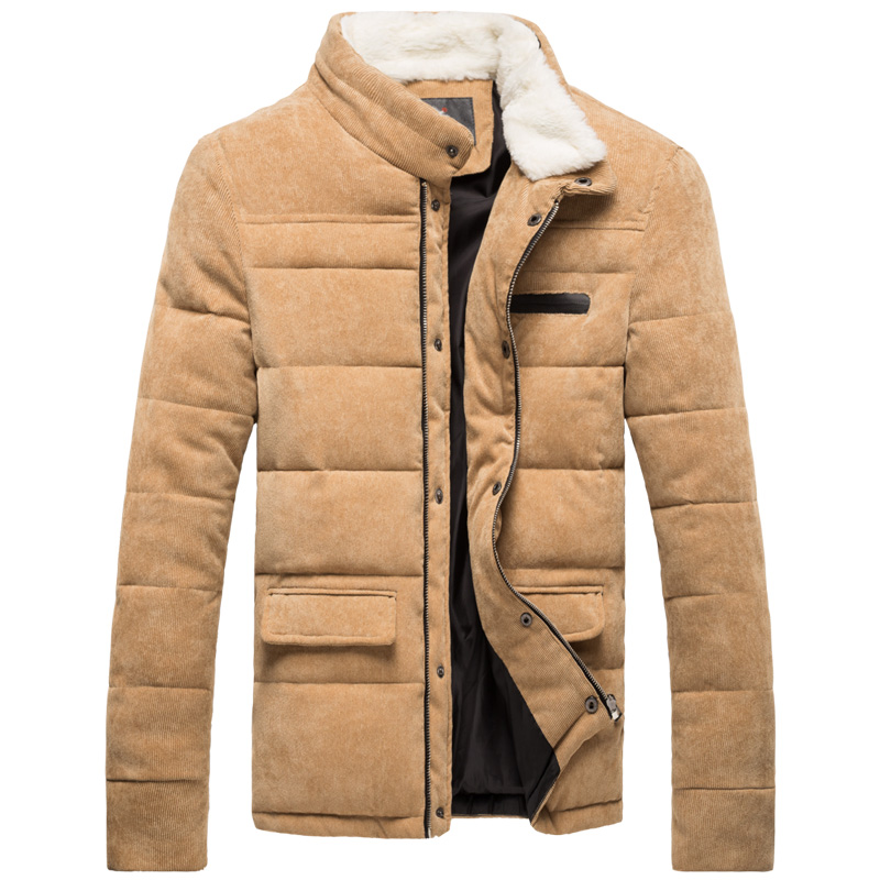 New 2015 fur collar winter jacket men patchwork parka winter coat men down jacket men canada