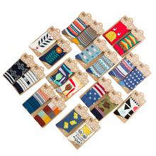autumn winter fashion designers brand cotton socks for men creative funny pattern couples long socks 2pairs/lot(China (Mainland))