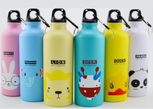 500ML Portable Sports Bicycle Water bottle Lovely Animal Outdoor Top Cycling Camping Bicycle Aluminum Alloy kids Water bottle(China (Mainland))