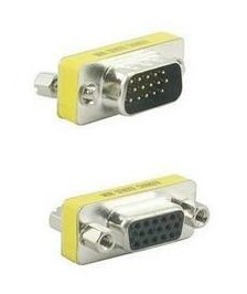 FreeShiiping HKpost +tracking number 15 Pin SVGA VGA Male to Female gender changer adapter(China (Mainland))