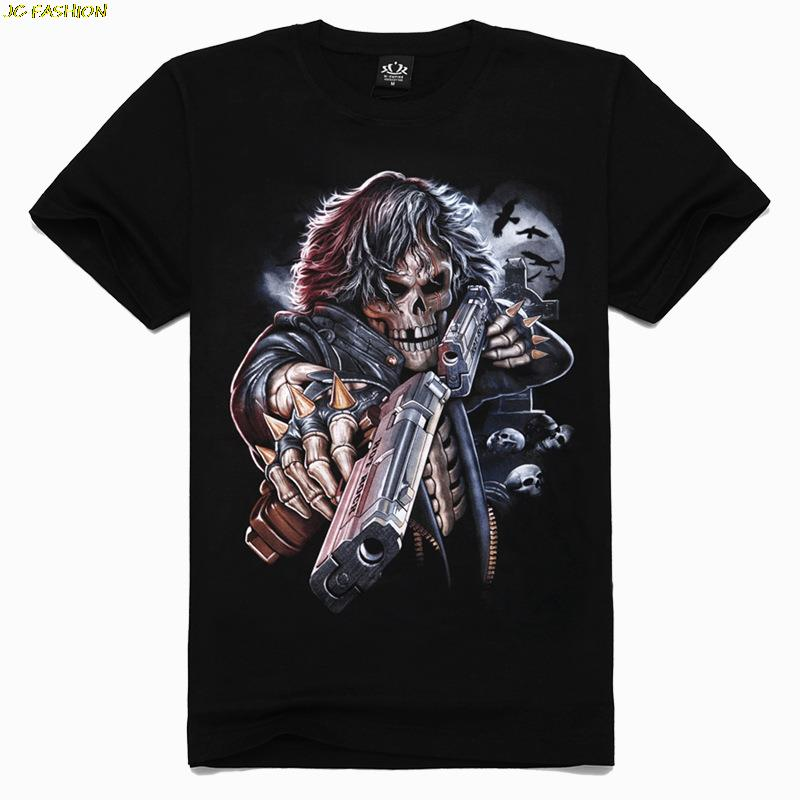 Metal Heavy Metal 3d Double Blow Printing New Summer Men T Shirt Rock Band Style Fashion Sports
