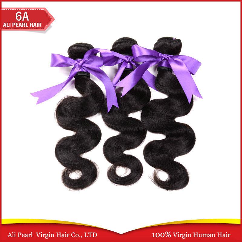 Rosa Hair Products Brazilian virgin hair body wave natural color black, human hair weaves Brazilian virgin hair(China (Mainland))