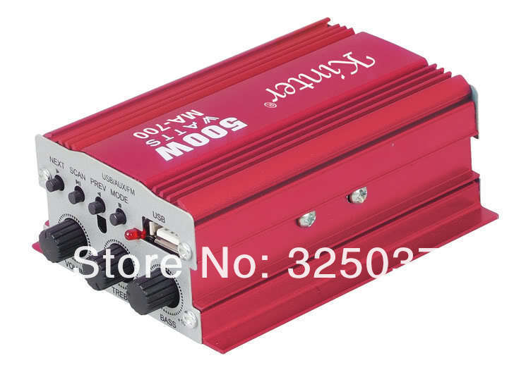 Mini Digital Audio Power Amplifier Auto Car Boat Home Hi-Fi Stereo MP3 AMP iPod Moblie Remote Control - Hard-working people store