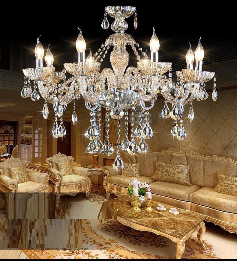 Modern crystal Light Chandelier Luxury Cognac color Top K9 Crystal 6-8 Arm Crystal Home Lighting Indoor Lamp Room Chandeliers(China (Mainland))