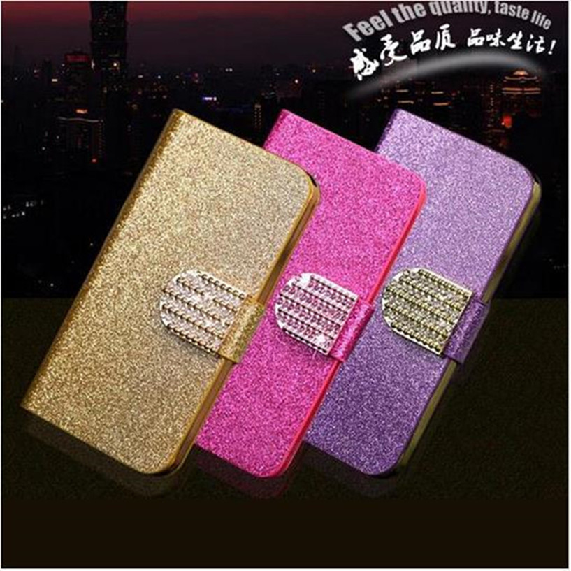New Luxury Shiny Diamond Full PU Leather Case For Lenovo Vibe Shot Z90 Cover With Safe Buckle Cell Phone Bling Capa(China (Mainland))