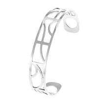 Cremo Arm Wide Bracelets Argent Cuff Bangles For Women Stainless Steel Bracelet Manchette Femme Interchangeable Leather Pulseira(China)