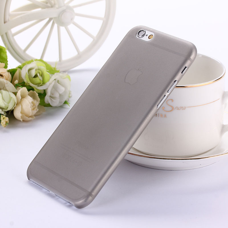 Ultra thin 0.3mm matte Case cover skin for iPhone 6 6S Translucent slim Soft plastic Cellphone Phone case(China (Mainland))