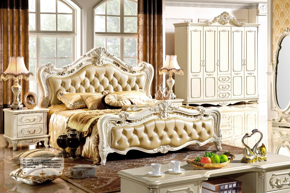 antique style french furniture elegant bedroom sets pc