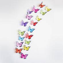 18 шт./лот/партия 3d эффект хрустальные бабочки настенные наклейки красивая бабочка для детской комнаты Настенные наклейки украшение дома на ...(China)