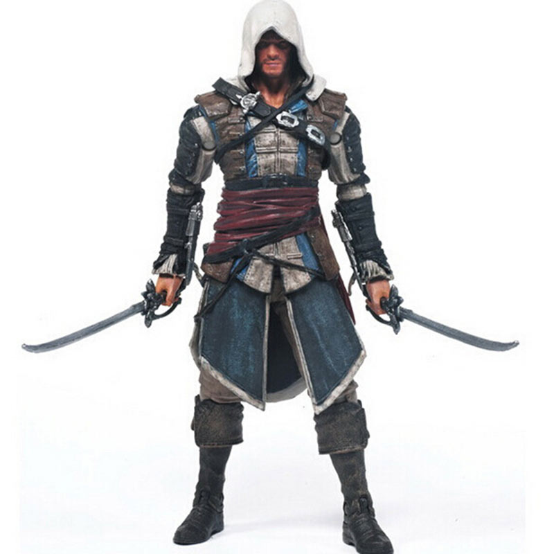 2017 Hot Sale Action figure Assassins Creed Assassins's game doll Edward Canvey Cosplay New in Orginal Box HT1930(China (Mainland))