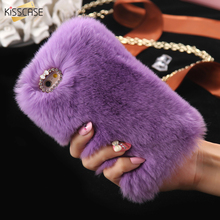 Buy KISSCASE Luxury Rabbit Fur Case Iphone 6S 6Plus 7 7Plus Super Soft Plush Furry Hard PC Back Cover Cases Iphone 6S 6Plus for $4.24 in AliExpress store