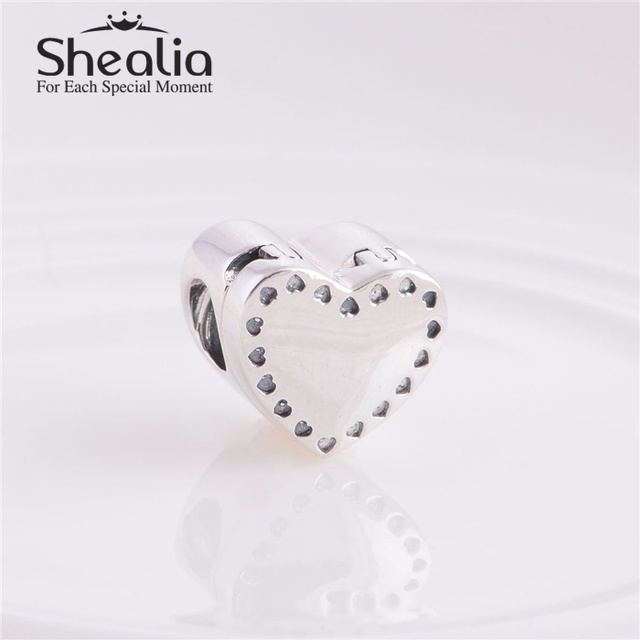 Аутентичные стерлингового серебра 925 в форме сердца музыкальная шкатулка нить бусины DIY ремесло изготовления ювелирных изделий подходит европейским очаровывает браслеты