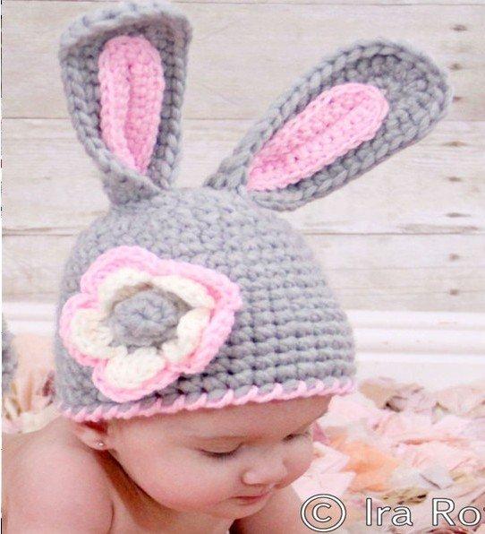 Knitting Caps For Babies : New handmade woven hat infant babyrabbit knit style cap