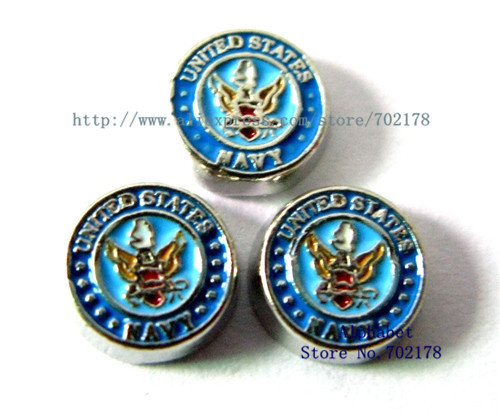 United States Navy wholesales10pcs floating charm FC273 fit living memory floating locket as families friend gift Free shipping(China (Mainland))