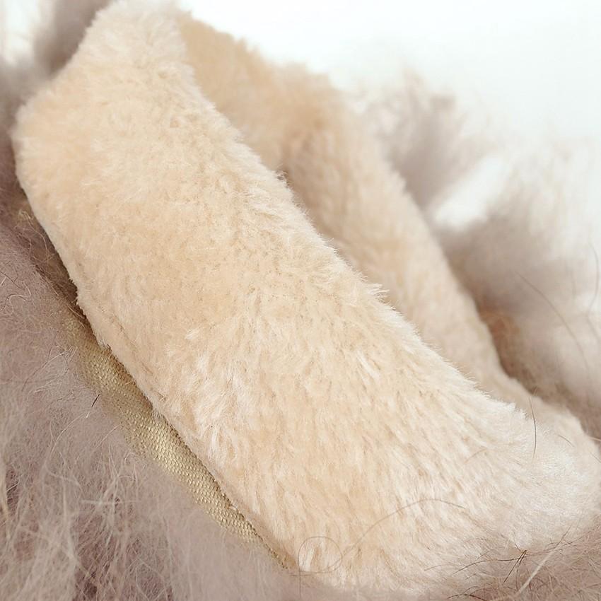 ซื้อ 2016นิวพลัสขนาดใหญ่34-43สีดำสีเหลืองสีเบจแฟชั่นที่อบอุ่นกระต่ายขนสาวหญิงเลดี้แฟลตสตรีรองเท้าหิมะฤดูหนาวX1559
