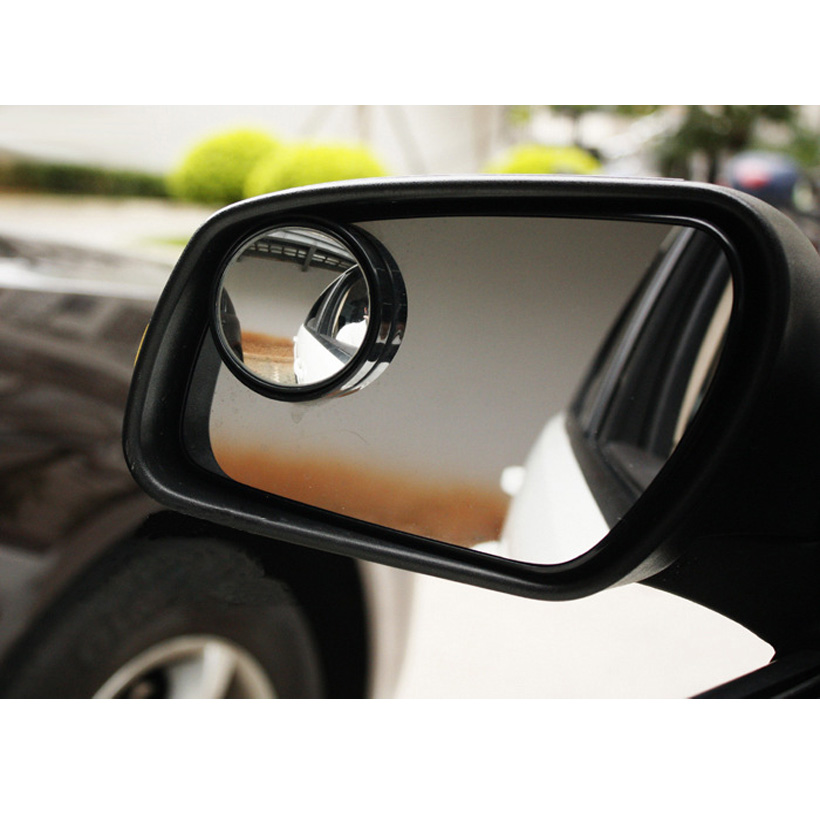 2pcs High Definition Adjustable Auto Car Rearview Mirror 360 degree Safety Wide Angle Blind Spot Mirror for all car freeshipping(China (Mainland))