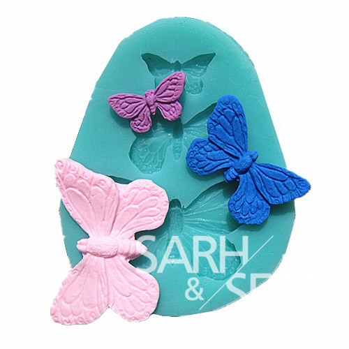 M0113 butterfly cake mold handmade silicone baking tools decorations for cakes Fondant chocolates mold mold(China (Mainland))